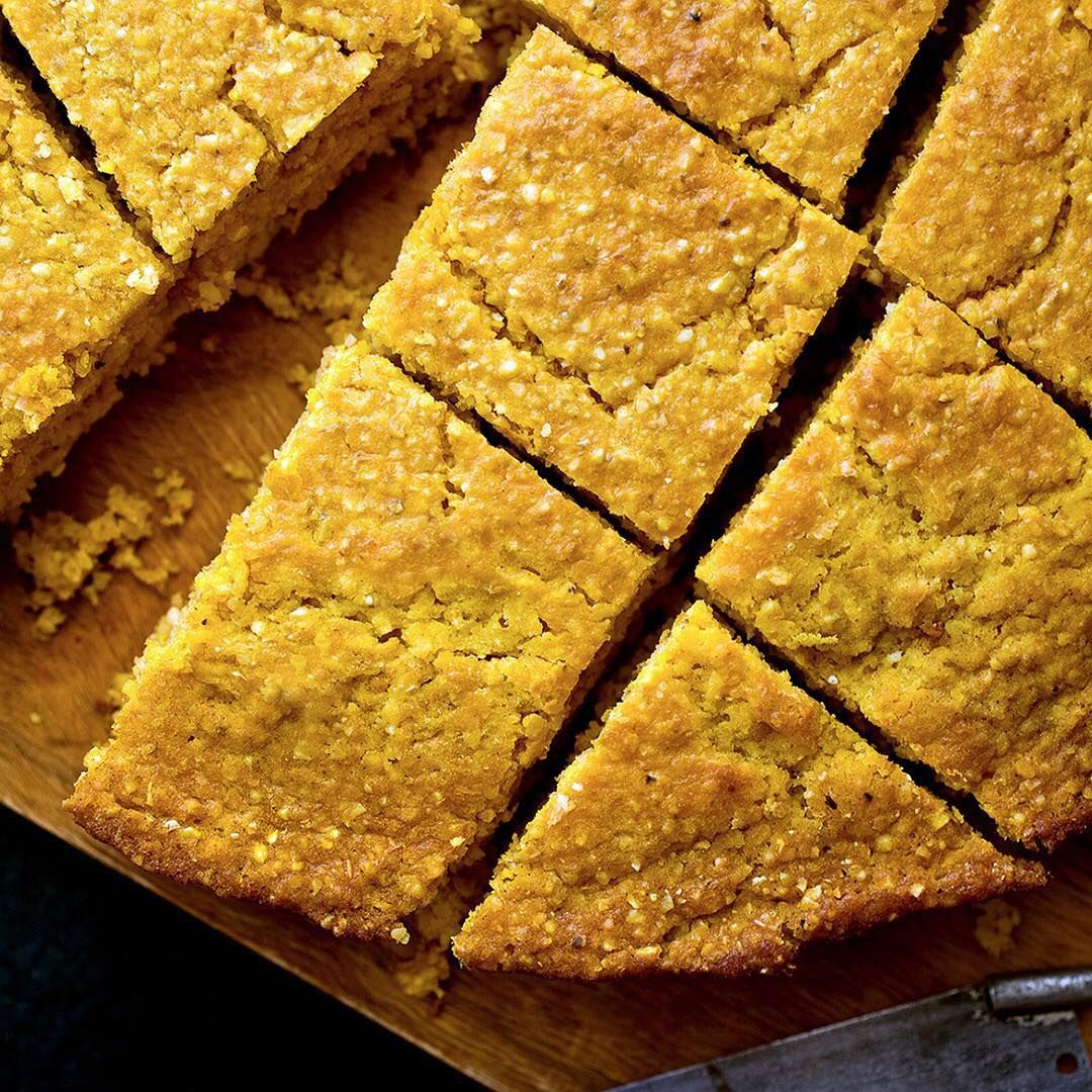 Delicious on its own or as the base for a stuffing, this rich, moist cornbread is inspired by a Basque recipe that has been altered to resemble American #cornbread. Find this recipe, as well as our customizable guide for your Thanksgiving, through the link in our profile. (Photo: @andrewscrivani) #NYTCooking