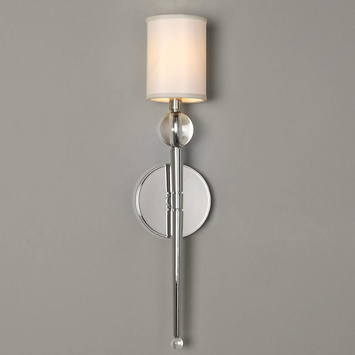 Clear Glass Candle Wall Sconces : Crystal Ball and Elongated Torch Wall Sconce Crystal ball, Torches and Wall sconces