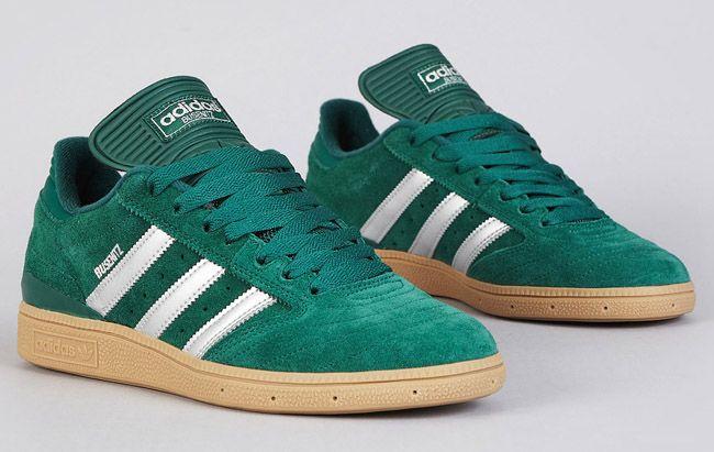adidas Skateboarding Busenitz - Forest Green, Silver & Gum (4) · Adidas Sko  MændSkateboardsSkoveHvide ...
