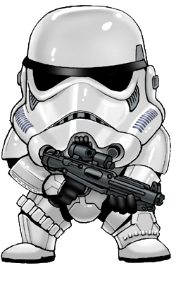 From the Star Wars Alphabet Piece - S is for Stormtrooper