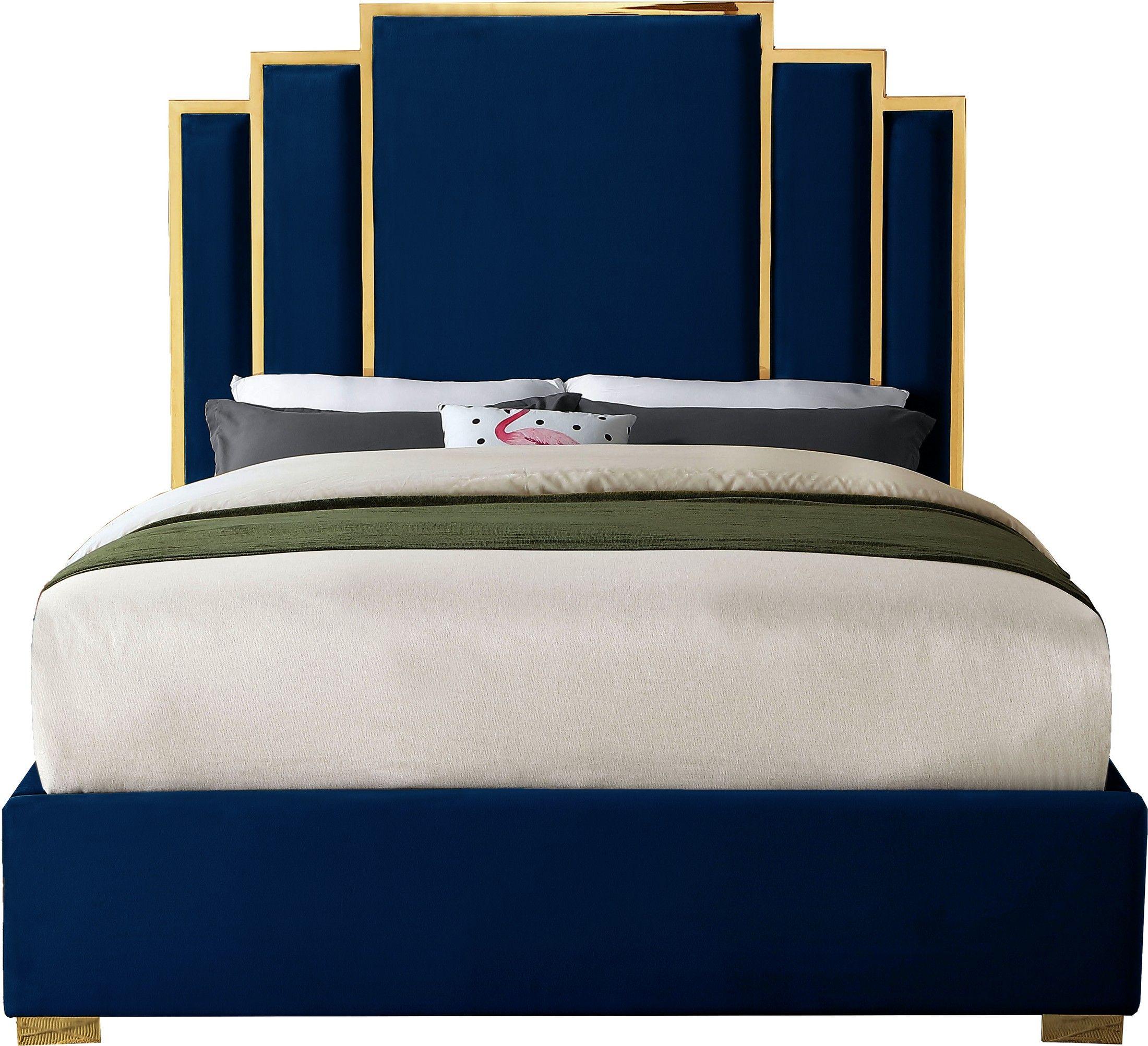 Hugo Velvet Bed Diseno Moderno De Muebles Camas Tapizadas