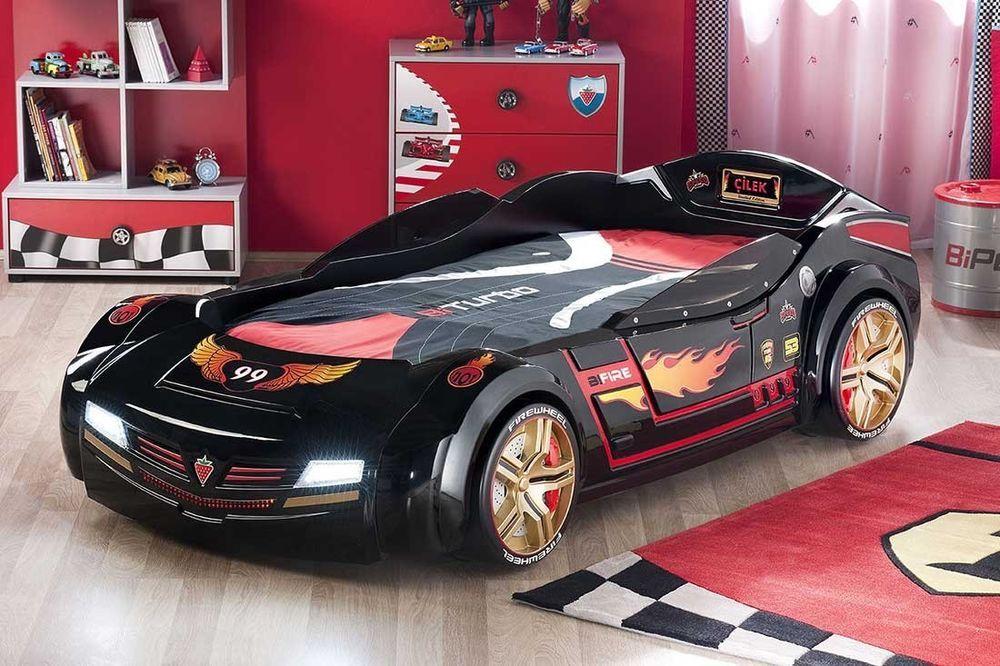 Turbo Bed Race Car Bed For Kids Boys Bedroom Furniture Black