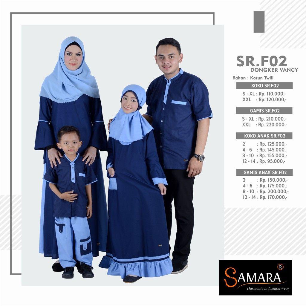 Baju Gamis Sarimbit Couple Keluarga Pasangan Dress Pesta Muslim
