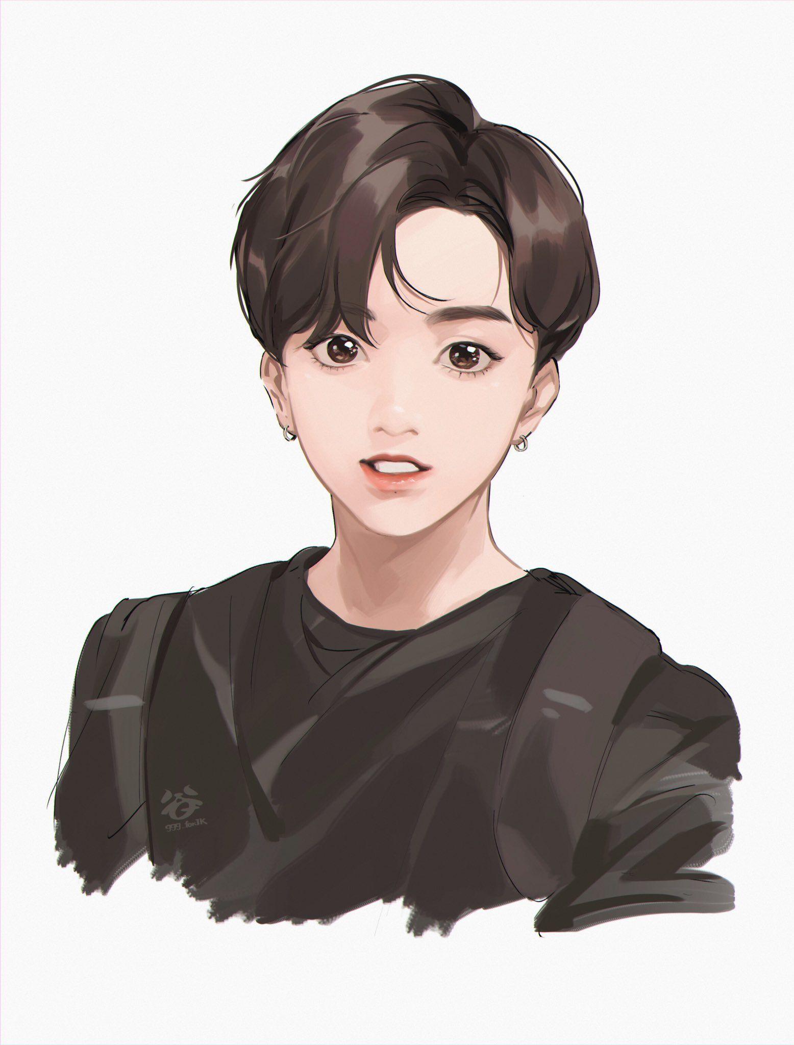 紺 on Jungkook fanart, Bts chibi, Bts drawings