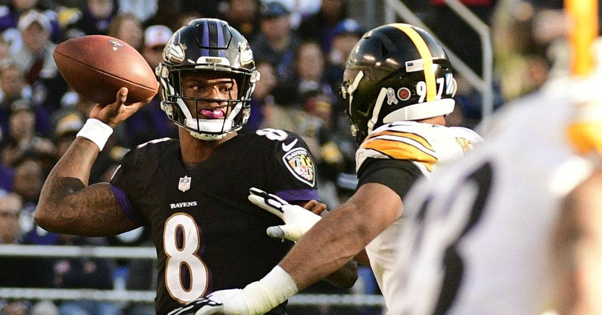 Pin about Ravens vs bengals, Lamar jackson and Football