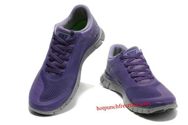 low priced 52447 4f488 Mens Nike Free 4.0 v2 Purple Grey