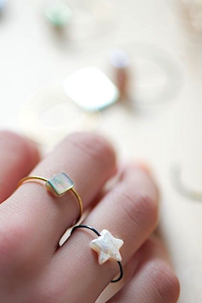 DIY Wire Ring with Bead Tutorial | jewels | Pinterest | Beads ...