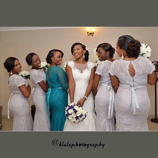chief-bridesmaid-teal-dress-white-wedding-purple-flowers Nigerian ...