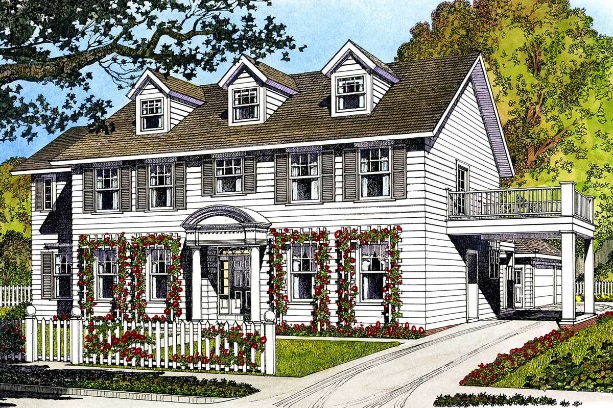 Plan 43010pf Father Of The Bride In 2021 Brick Exterior House Colonial House Exteriors Colonial Style Homes