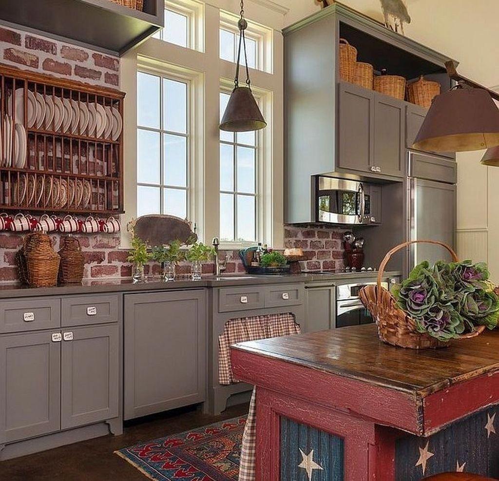 primitive paint colors for a kitchen #Primitivekitchen ...