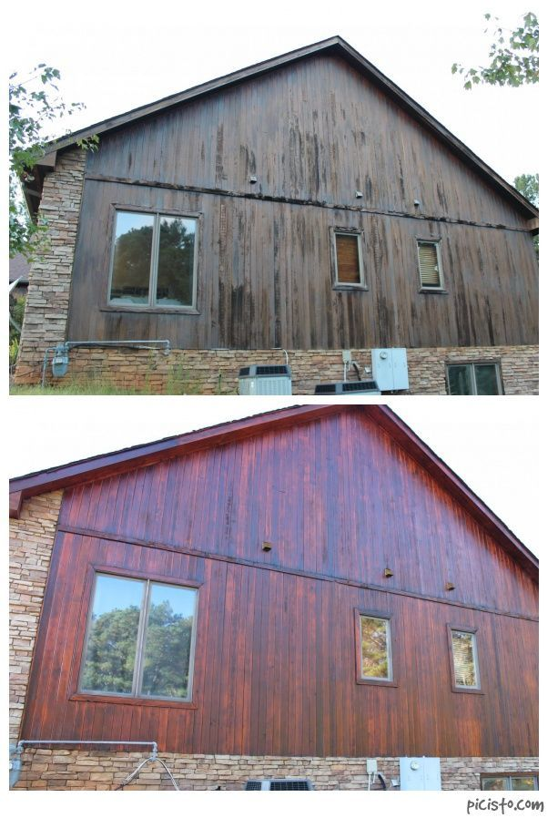 Combined Photo Before And After Of Cedar Restoration