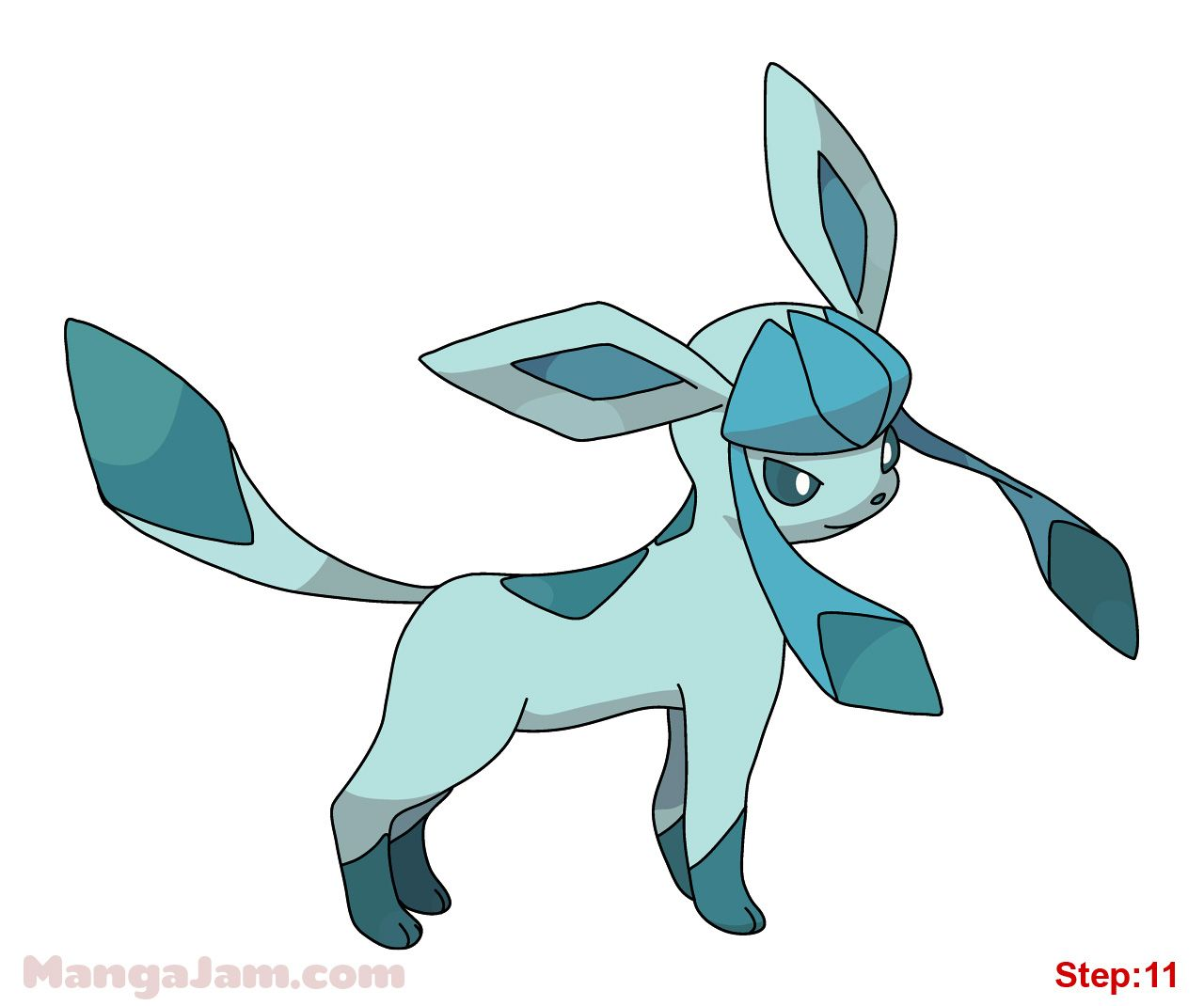 How to draw glaceon from pokemon step 11 sisi pinterest how to draw glaceon from pokemon step 11 thecheapjerseys Image collections