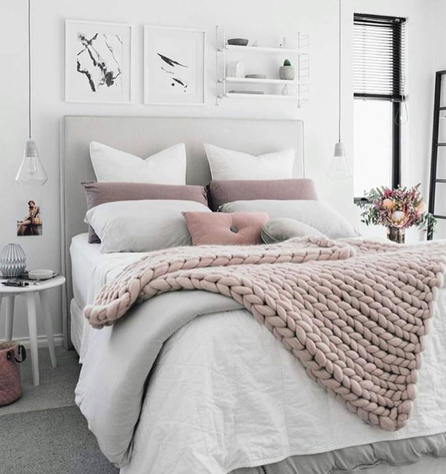 Blush Grey Bedroom Ideas Cozy White Inspiration