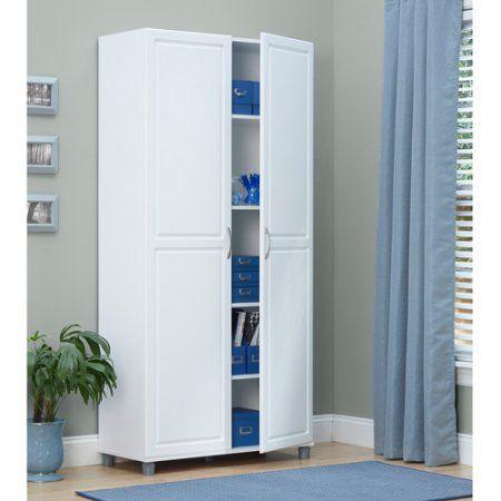 Home Improvement | Utility storage cabinet, White storage ...