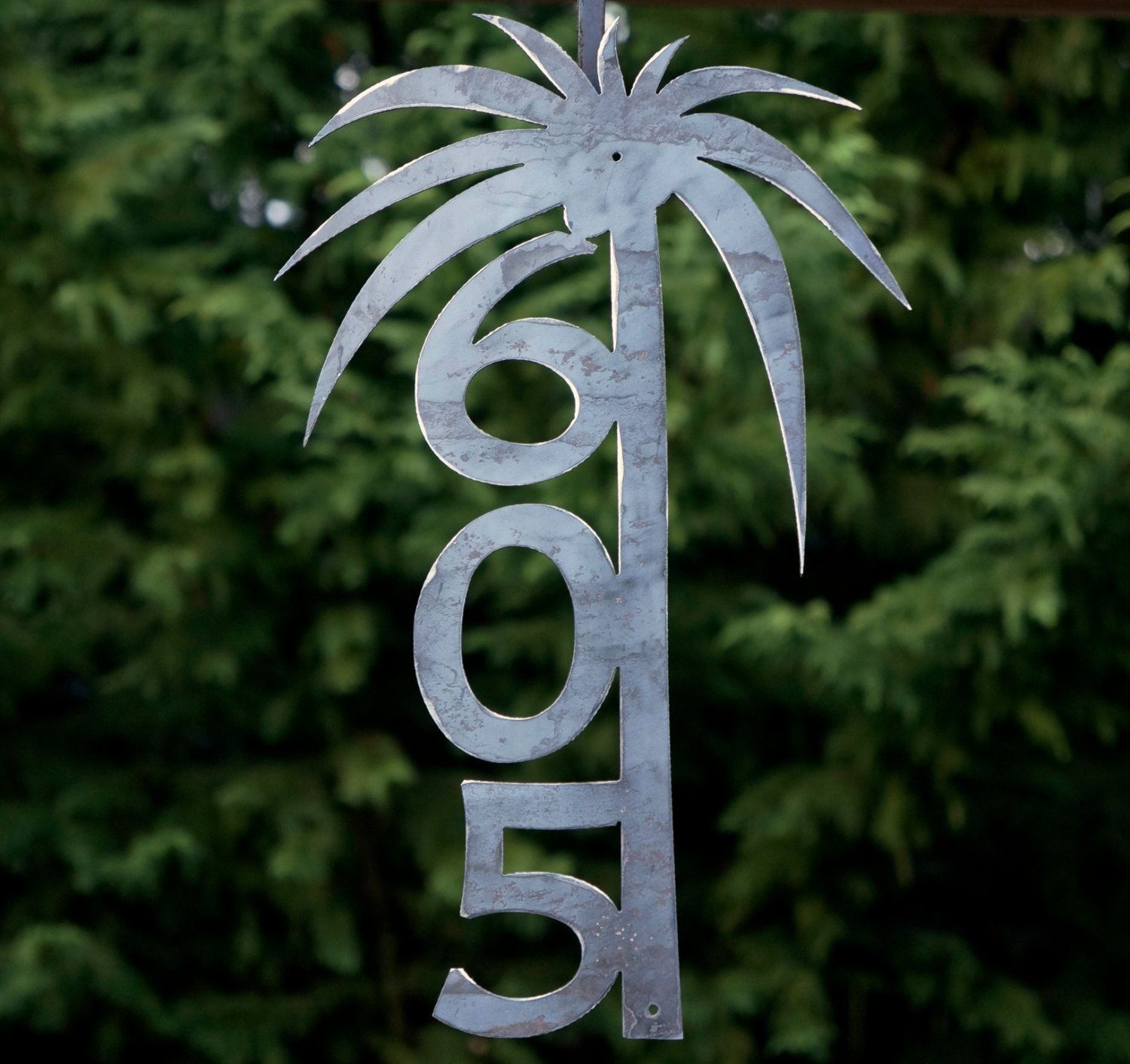 "palm tree house numbers / address sign house number / 10"" wide x"