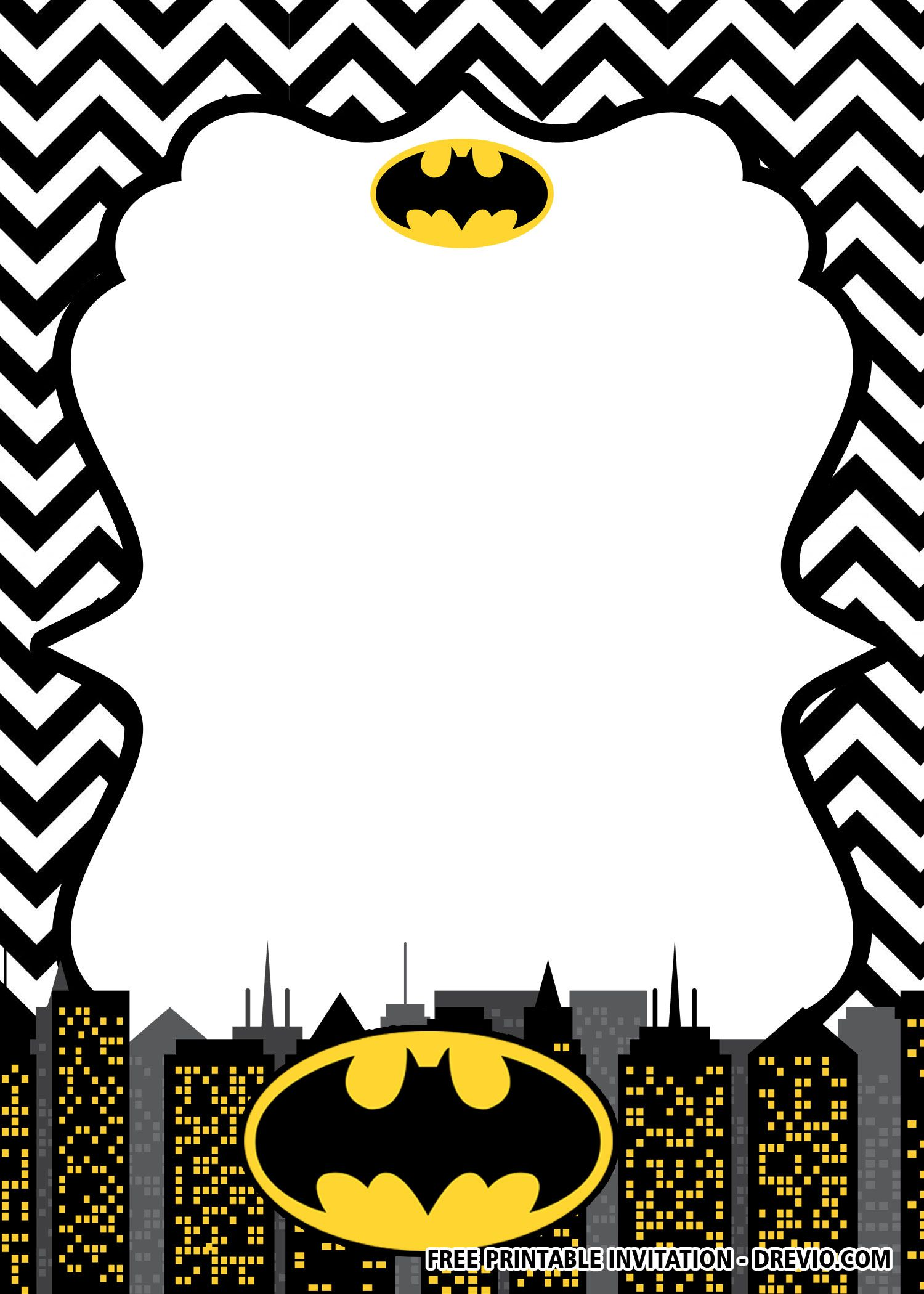 FREE Printable Batman Birthday Invitation