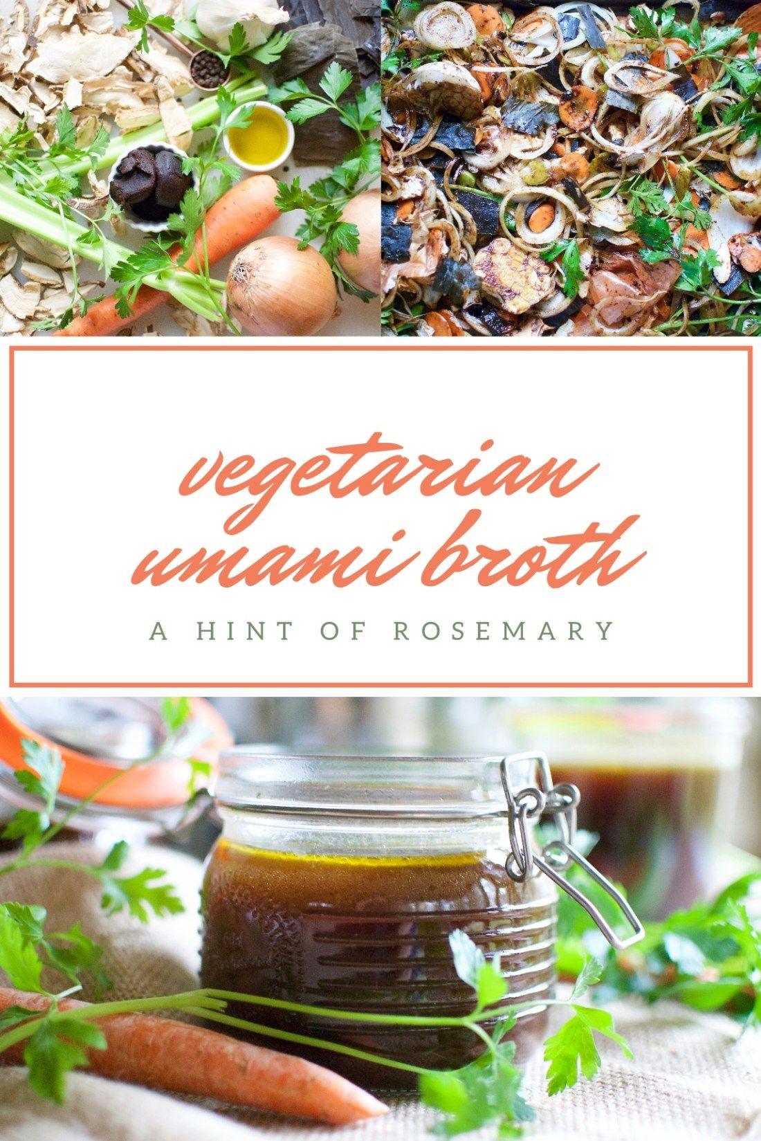 Vegetarian umami broth Recipe Vegetarian, Soups, stews