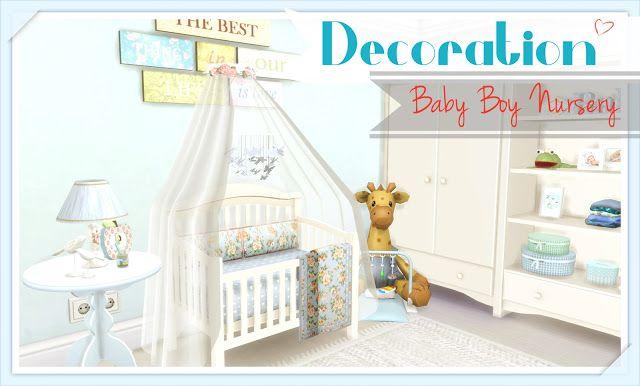 Sims 4 - Baby Boy Nursery | Sims 4 Bedroom, Baby Boy Room Decor, Baby Boy Nurseries