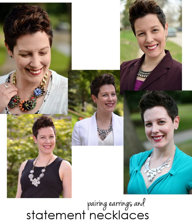 * Tips for choosing earrings that will work with a large, statement necklace