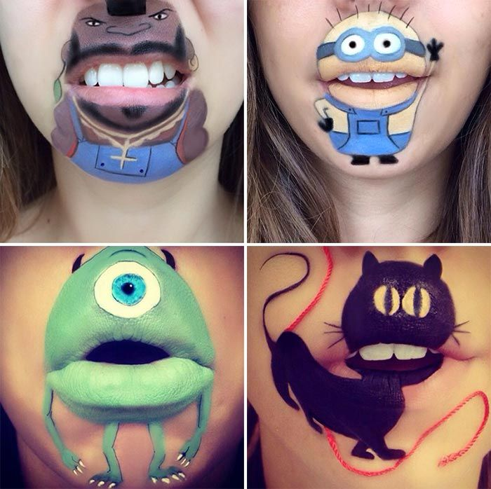 Makeup Artist Laura Jenkinson Turns Her Lips Into Disney Inspired ...