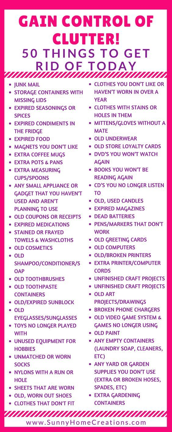 Decluttering Tips - 50 Items to Get Rid Of Today | Declutter ...