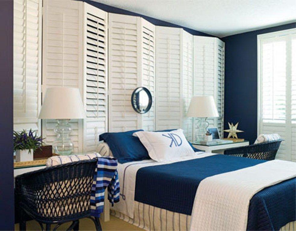 12 id es pour une d coration de chambre en bleu marine 100 bleu pinterest decoration - Chambre ambiance mer ...