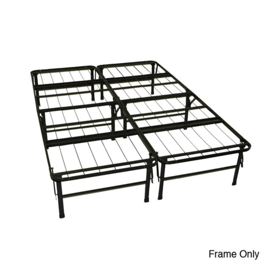 Greenhome123 Queen Size Folding Metal Platform Bed Frame No Box