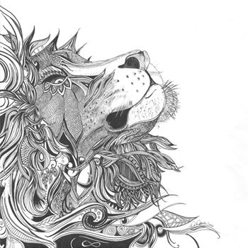 Title: Your Majesty - A3 Ink on Paper - Karin Roberts