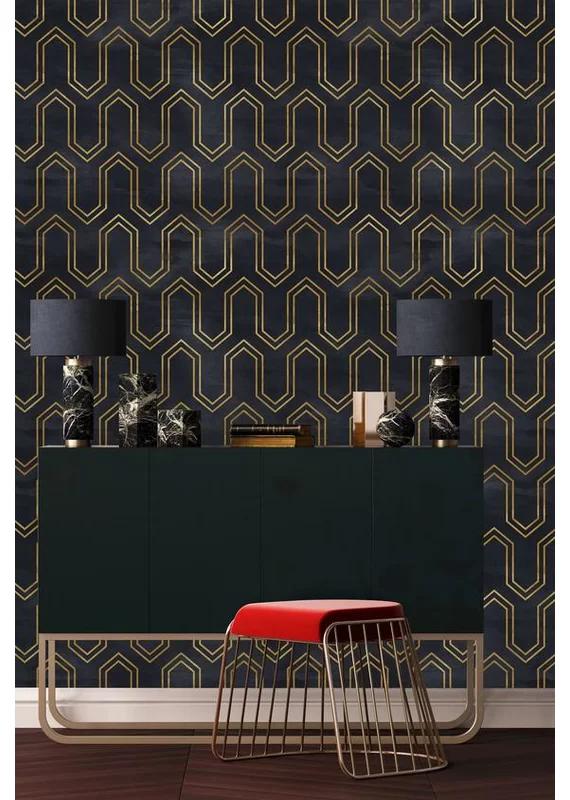 Tutuala Removable 8 33 L X 25 W Peel And Stick Wallpaper Roll In 2020 Gold Geometric Wallpaper Peel And Stick Wallpaper Home