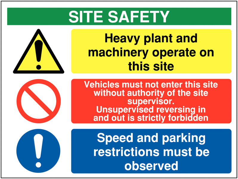 Site Safety Signs Heavy Plant And Machinery Operate In 2020 Heavy Machinery Safety Machinery