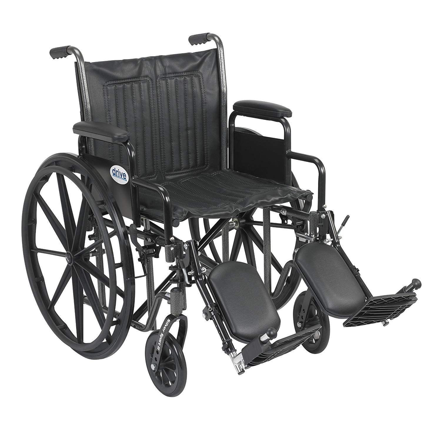 Drive Medical Silver Sport 2 Wheelchair with Various Arms