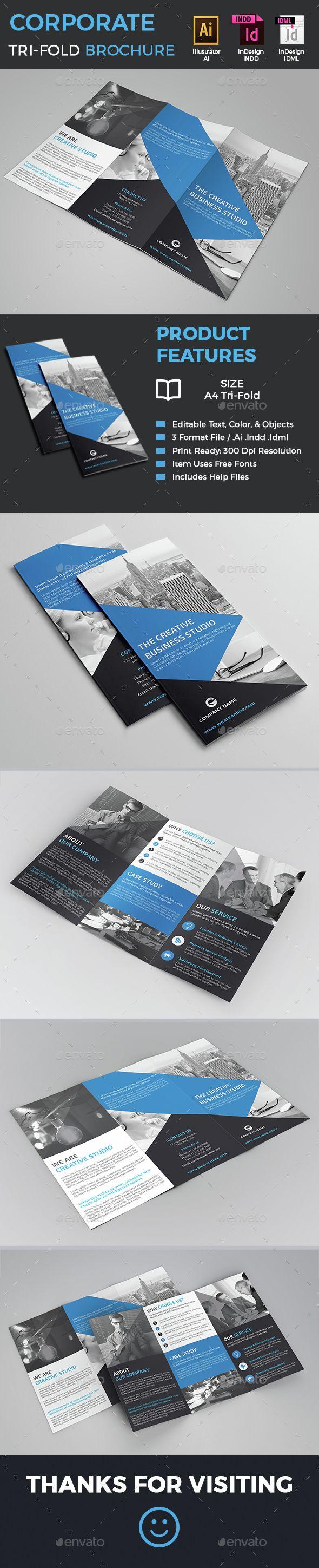 Corporate TriFold Brochure Tri Fold Brochure Tri Fold Brochure - Tri fold brochure template indesign free download