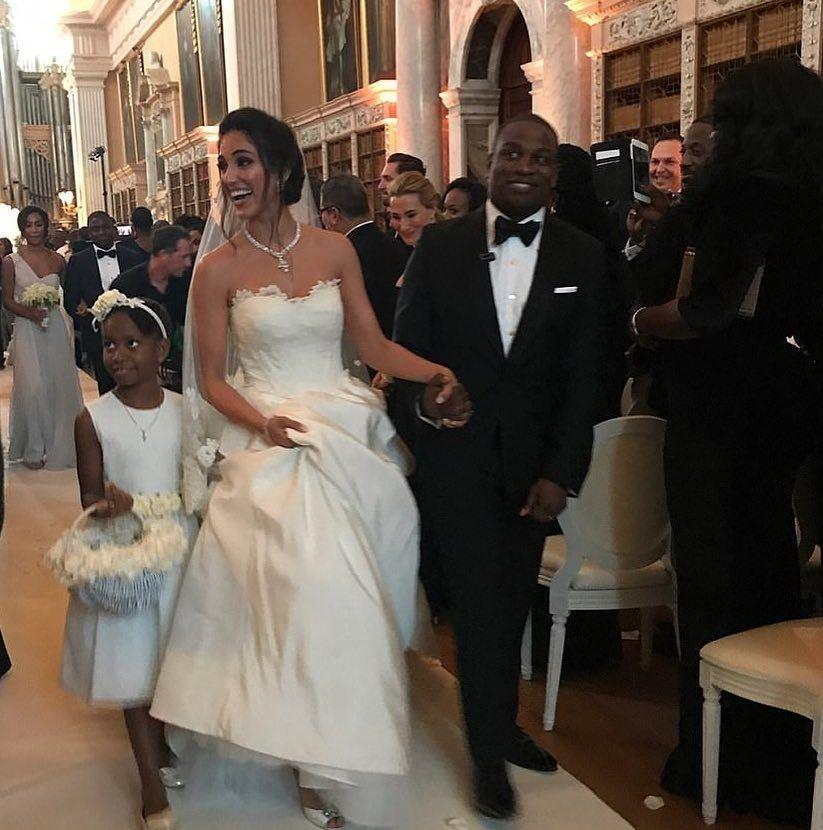 The Son Of A Nigerian Billionaire Married Model Nazanin Jafarian Ghaissarifar During A Seriously Lavish Wedding Wedding Bride Wedding Costs