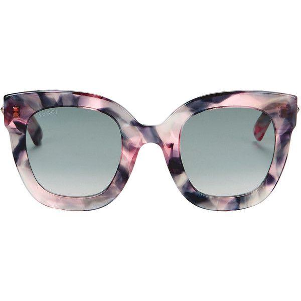d6c317fc612cf Gucci Oversized Marble Acetate Sunglasses (1