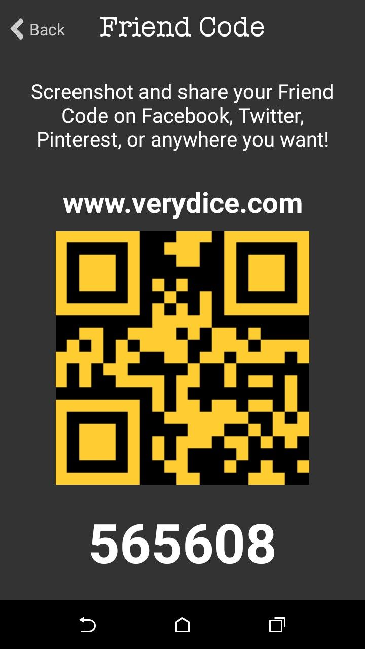 Start using verydice  Enter my code for free rolls  Earn points