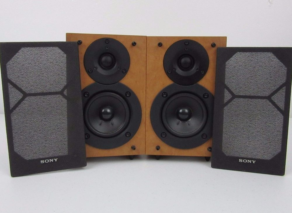 Sony SS CEX1 Speakers 4 Ohms High Power Bookshelf Speaker Set
