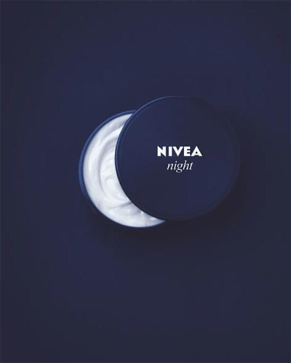 This is a very simple, yet creative, ad. The imagery with the shape of a moon and the lotion bottle is something that I could highlight in photoshop.