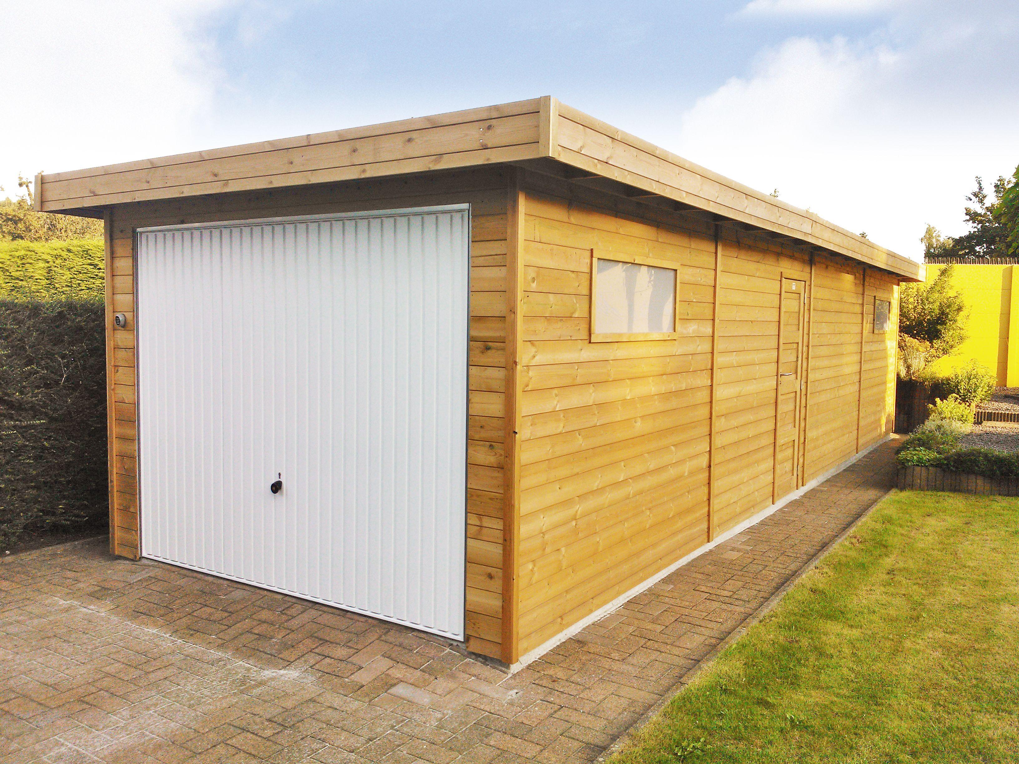 Moderne Houten Garage Tuinhuis Met Kantelpoort Garage Abri