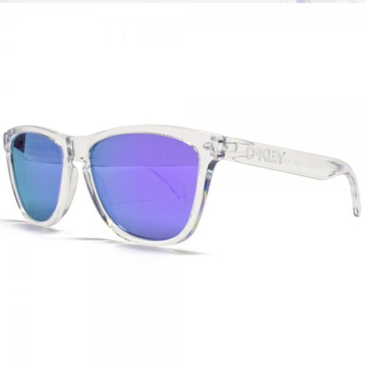Oakley Frogskin Sunglasses.Clear Frame Blue Lens | Oakley and Products