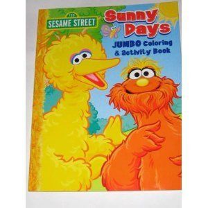 Sesame Street Jumbo Coloring Book - Sunny Days:Amazon:Toys & Games ...