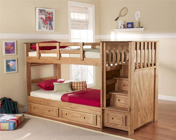 Bunk Bed With Stairs Twin Over Twin Diy Bunk Bed Bunk Bed With