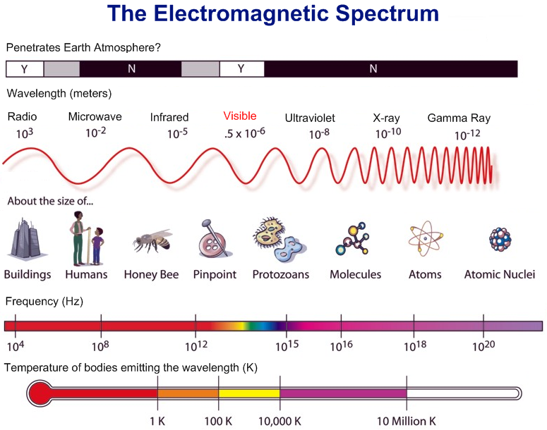 The electromagnetic spectrum science infographic – Electromagnetic Radiation Worksheet