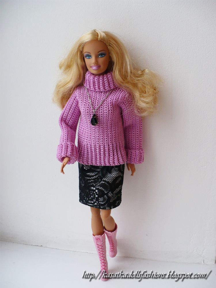 KasatkaDollsFashions: Свитер для кукол Барби и розыгрыш ...
