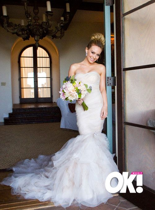 Yeeeah Celebrity Style And Fashion Trends Hilary Duff Wedding Dress Hillary Duff Wedding Celebrity Wedding Dresses