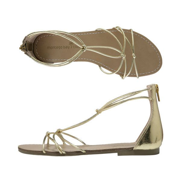 1e5296a4e1cd Montego Bay Club - Moxie Strappy Flat Sandal found on Polyvore featuring  polyvore