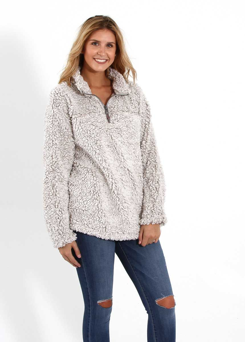 db8cbc93ac492 Dylan Frosty Tipped Stadium Pullover for Women in Putty 61W40FTP ...