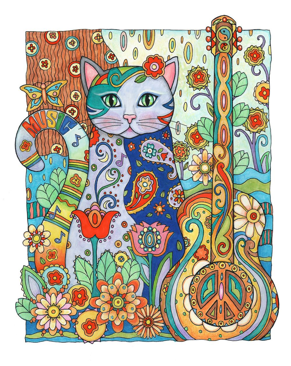 Music is lifecolorg cats pinterest cat creative and