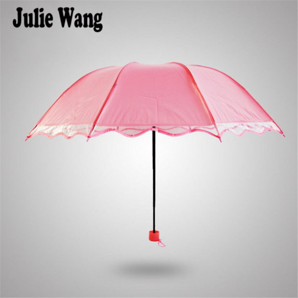 Julie Wang Women\'s Fashion Lace Umbrella Sun Rain Protection UV ...