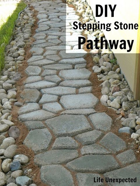 Diy Stepping Stone Pathway We Found A Under Our