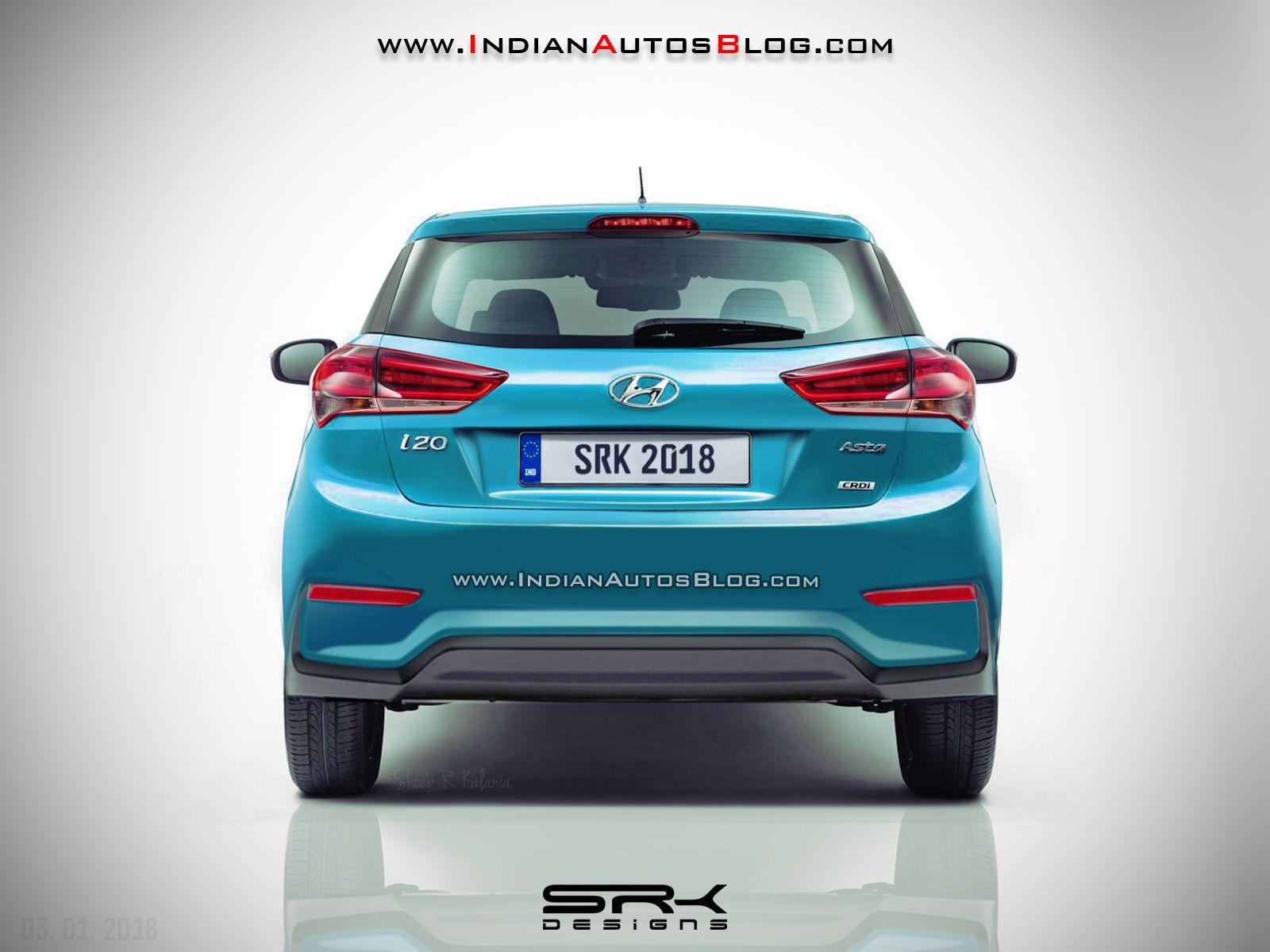2018 Hyundai I20 Facelift Rear Rendering Automobile